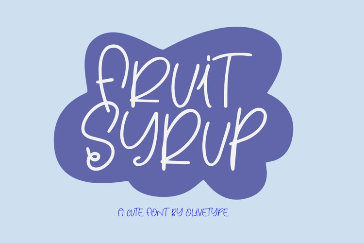 Fruit Syrup - A Fun Font. example image 1