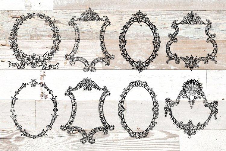 Vintage Ornate Frames Clipart Bundle PNG, EPS, SVG Vector