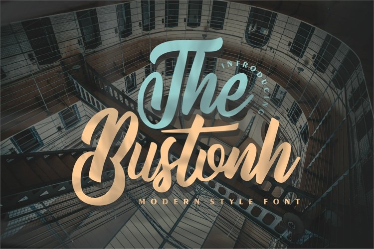 The Bustonh   Modern Style Font example image 1