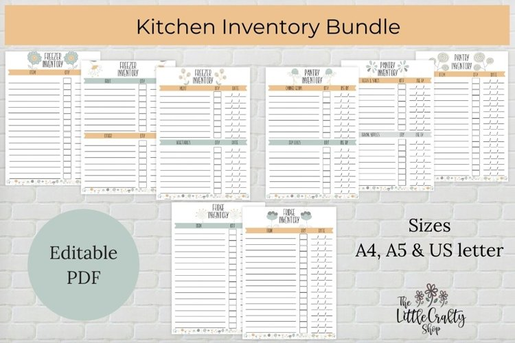 Kitchen Inventory Bundle - Editable example image 1