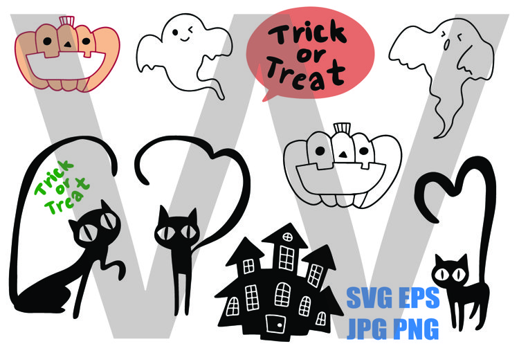 Halloween Items - JPG png svg eps example image 1