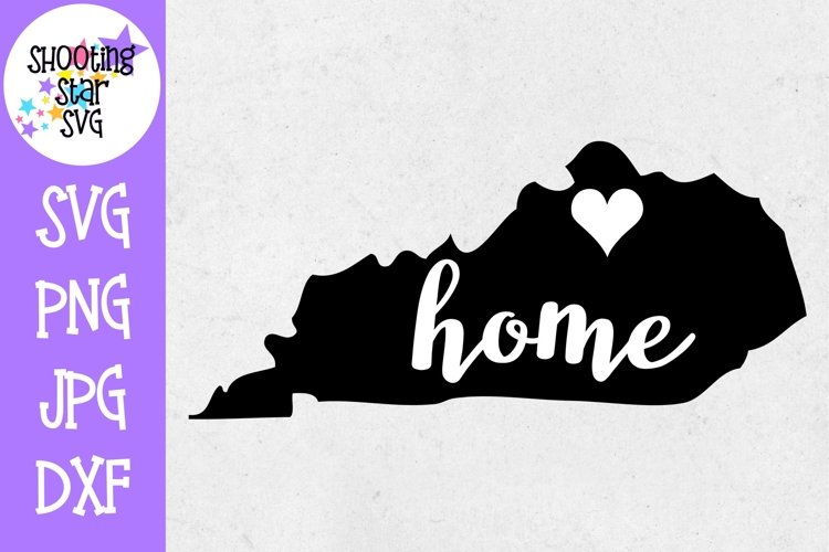 Kentucky Home State with Heart - 50 States SVG example image 1