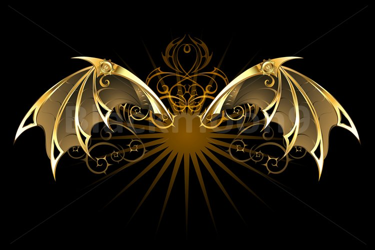 Mechanical Dragon Wings ( Steampunk ) example image 1