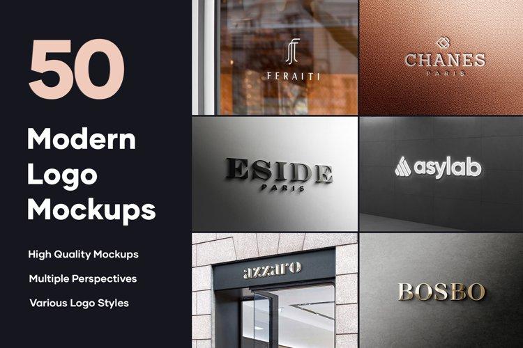 50 Logo Mockup Branding Bundle - PSD