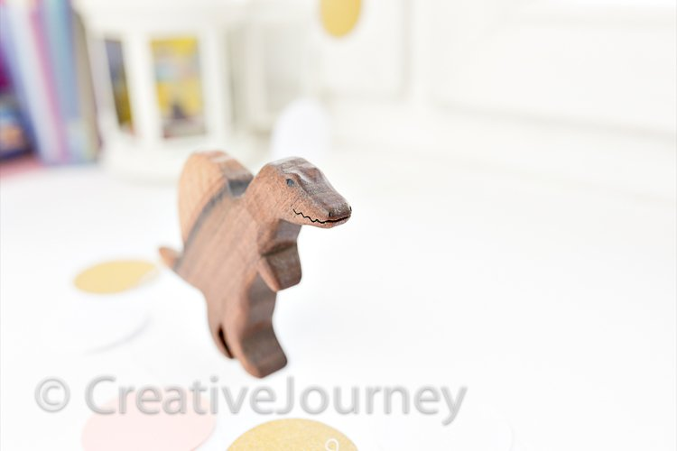 Wooden toy close up. example image 1
