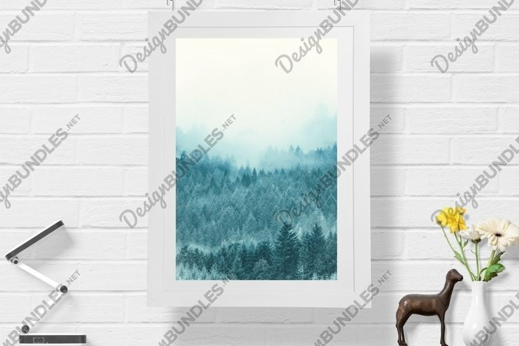 Snow Forest in Fog - Wall Art - Digital Print example image 1