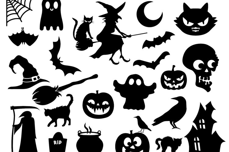HALLOWEEN bundle 25 svg files, includes dxf eps png jpg example image 1