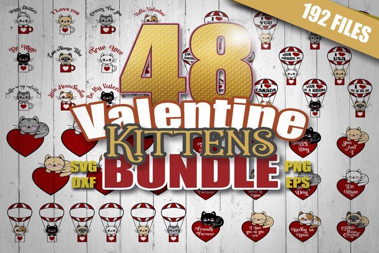 Valentine svg Bundle Kittens, girl valentine svg,