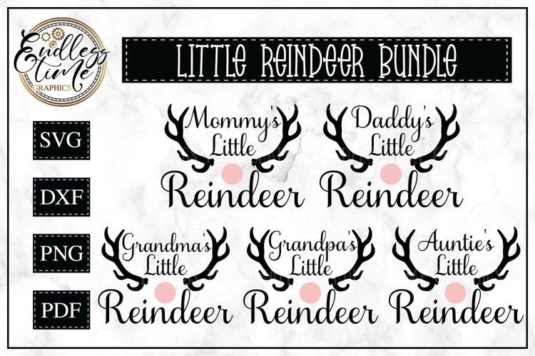 Mommy's Little Reindeer | Christmas SVG Bundle example image 1
