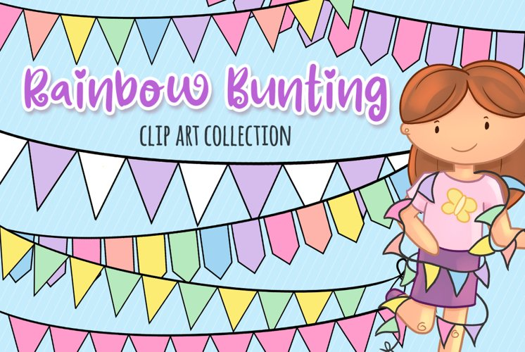 Bunting Banners Clip Art Collection example image 1