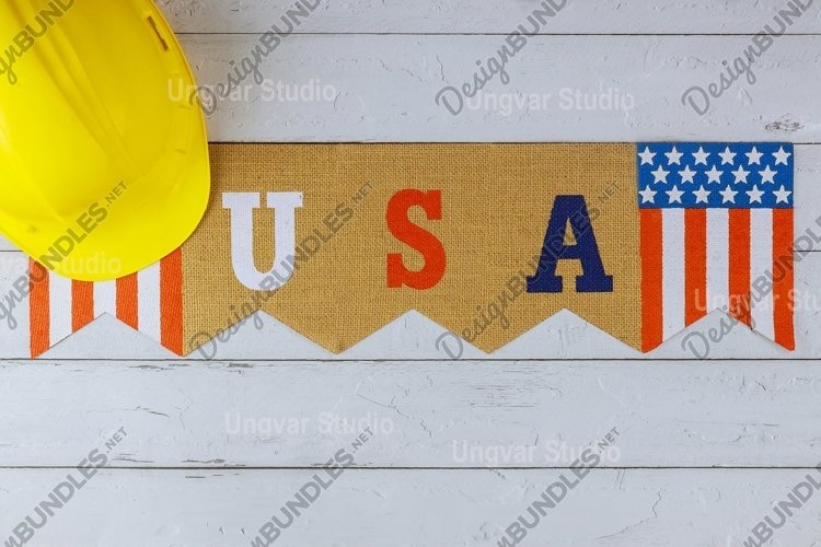Flag of United States of America Happy Labor Day example image 1
