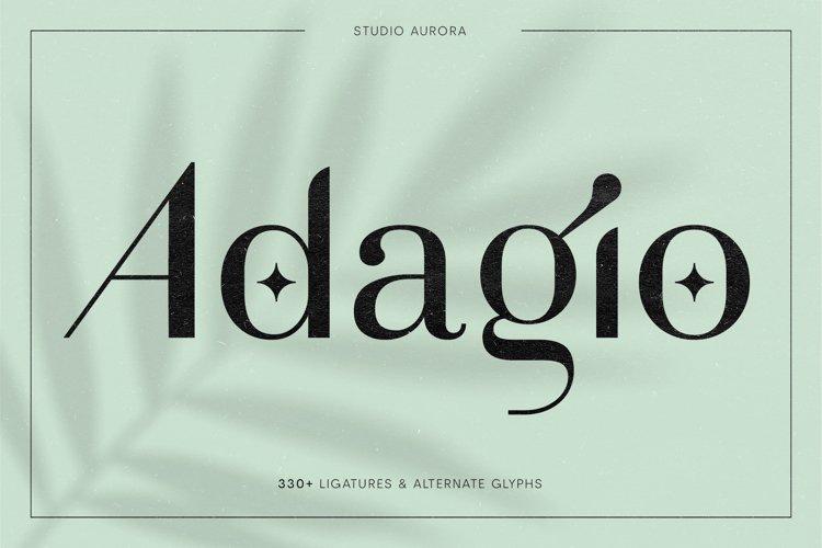 Adagio Decorative Ligature Font Duo example image 1