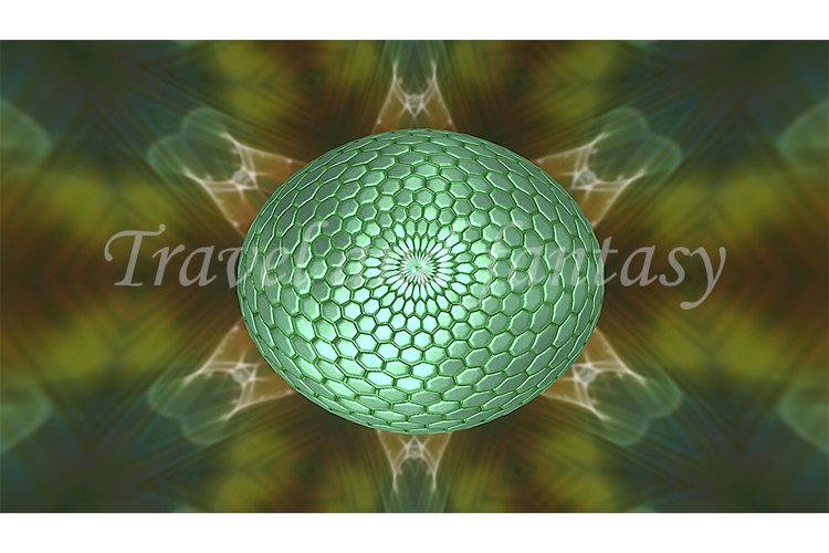 Abstract texture background with a green sphere. example image 1