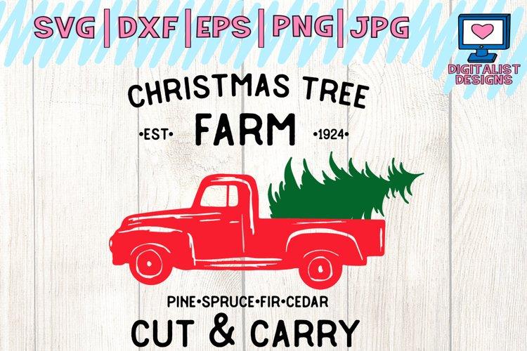 christmas truck svg, farm fresh christmas trees, decor example image 1
