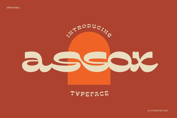 assox typeface example image 1