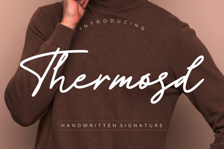 Thermosd Handwritten Signature example image 1