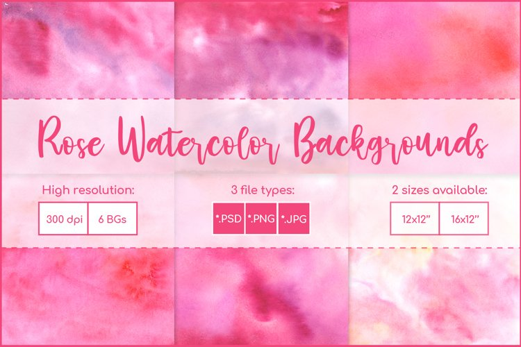 Watercolor Background Pink, Sublimation Watercolor Textures example image 1