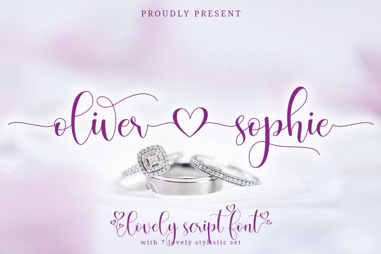 Oliver Sophie Lovely Script example image 1