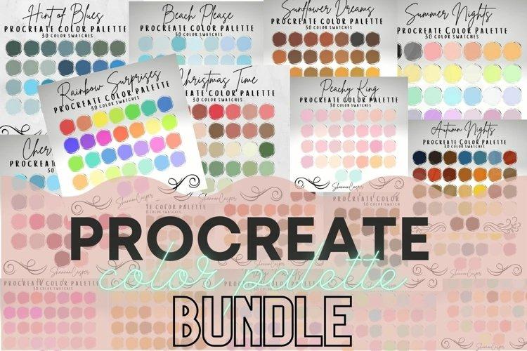 Procreate Color Palette Bundle example image 1