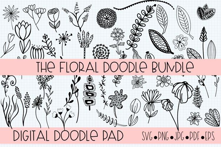 Floral Doodle Bundle Silhouette and Cricut example image 1