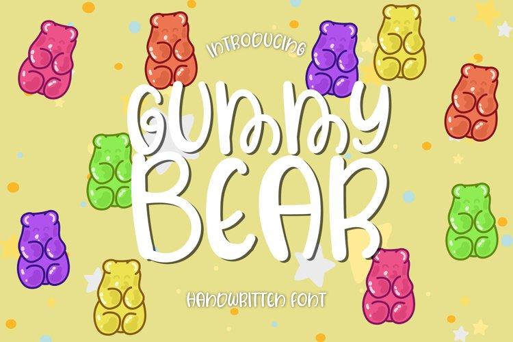 Gummy Bear - A Sweet Handwritten Font example image 1