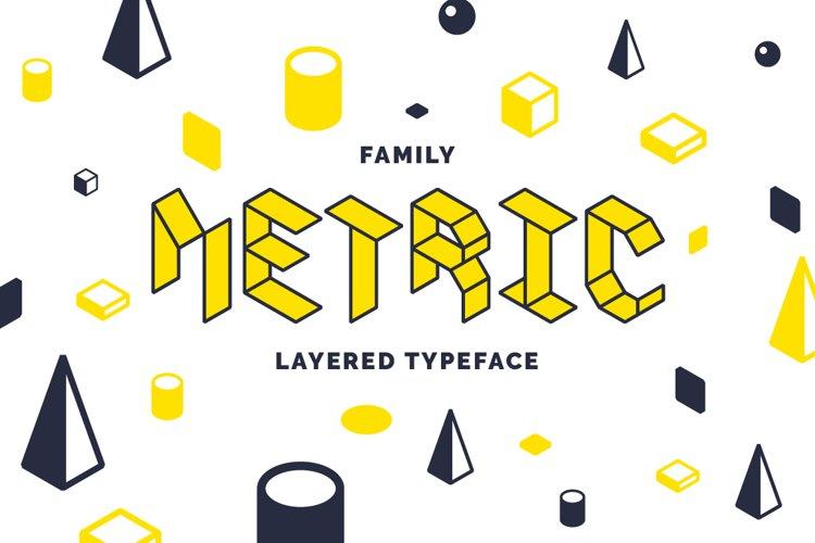 Metric display fonts