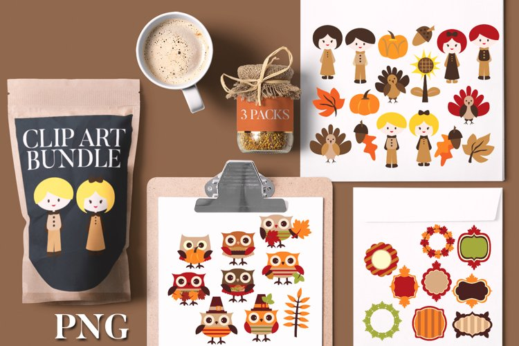 Thanksgiving illustrations and graphics bundle
