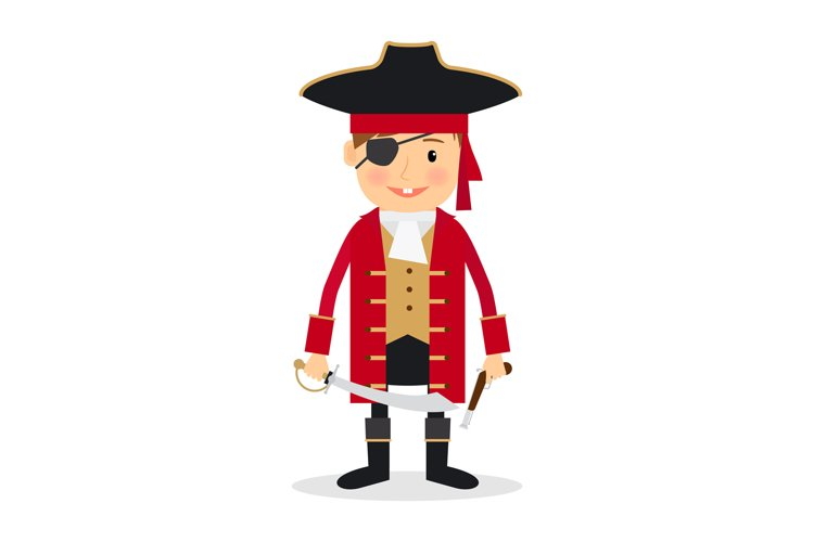 Pirate boy vector example image 1