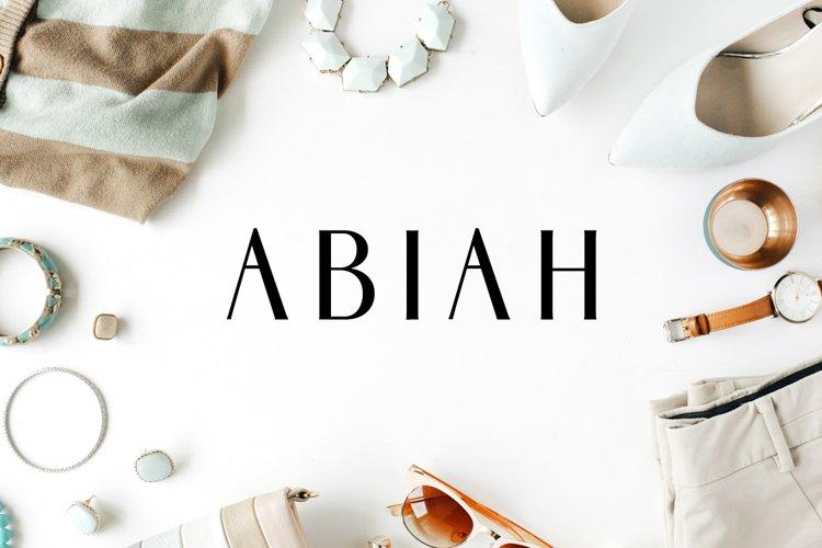 Abiah Sans Serif Font Family Pack example image 1