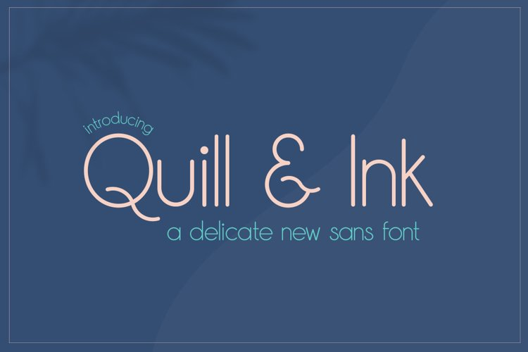 Quill & Ink Sans Font example image 1