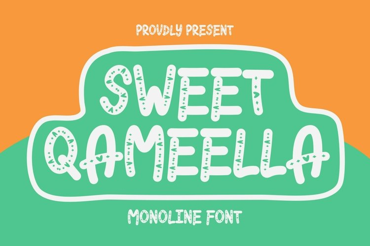 Web Font Sweet Qameella Font example image 1