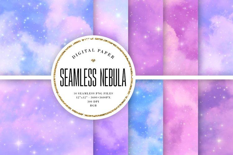 Nebula Seamless Patterns - Pastel Galaxy Backgrounds example image 1