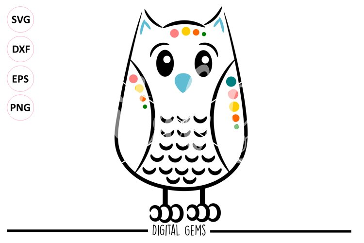 Owl SVG EPS DXF PNG file example image 1