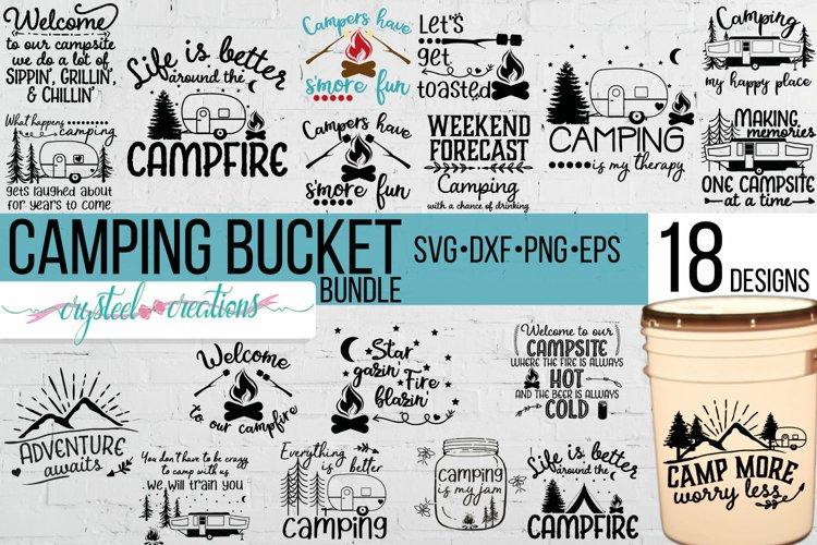 Camping Bucket Bundle SVG, DXF, PNG, EPS