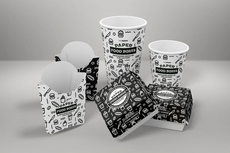 Fast Food Branding and Packaging Free Mockup Template example 2