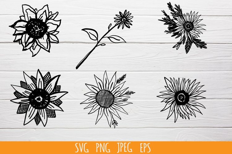 Sunflowers SVG cut file bundle example image 1