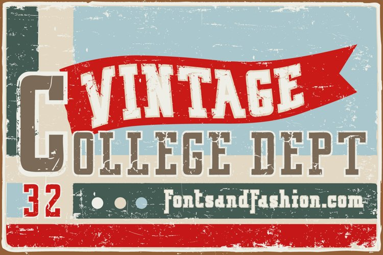 Vintage College Dept_Double example image 1