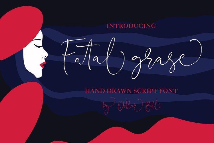 Fatal Grace. Signature Script Font. example image 1