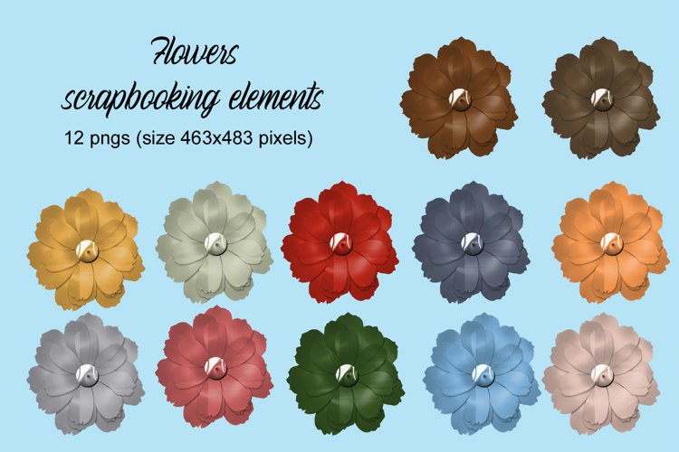 Flowers scrapbooking elements example image 1