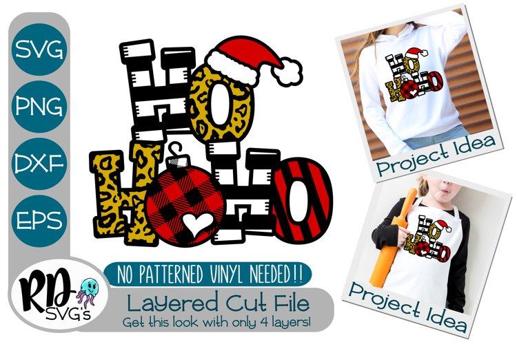 Ho Ho Ho - A Christmas Layered Cricut Cut File example image 1