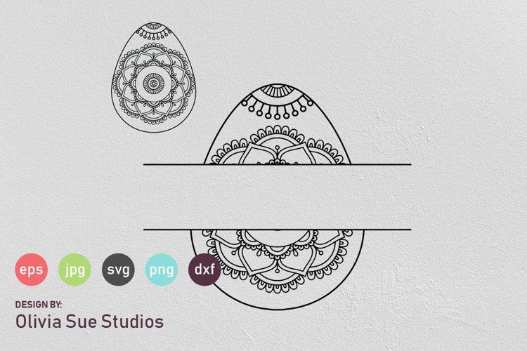 Easter Egg Mandala Monogram Split Svg Cut File 477884 Cut Files Design Bundles