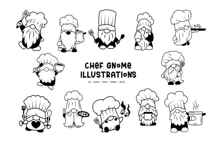 Chef Gnome Illustrations