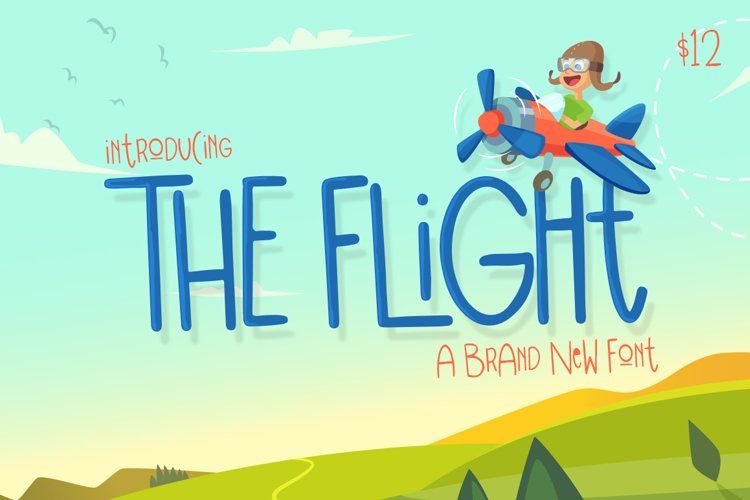 The Flight Font example image 1