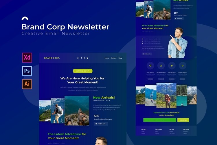 Brand Corp | Email Newsletter Template example image 1