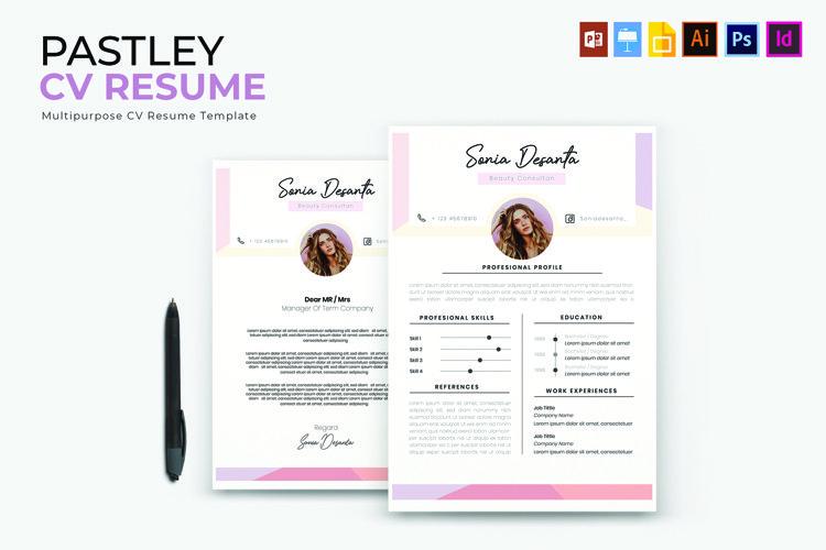 Pastley | CV & Resume example image 1