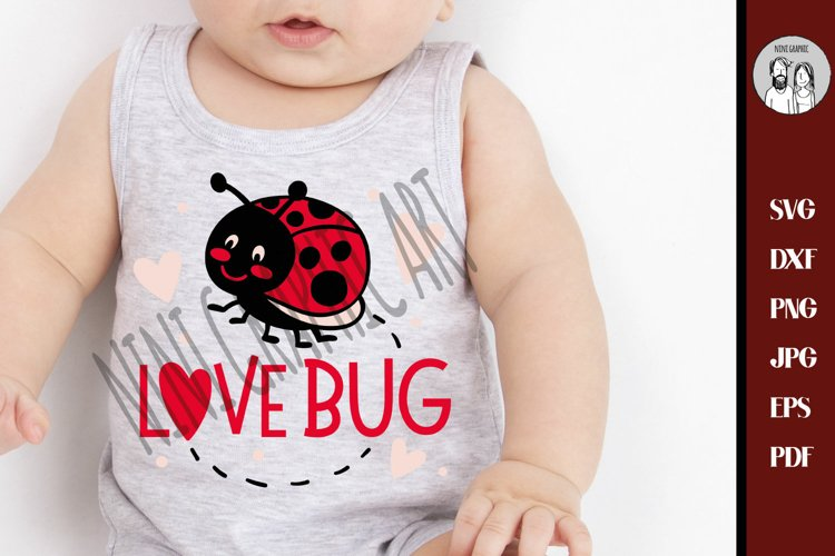 Love bug svg, Ladybird beetle svg, Lady Bug Svg, example image 1