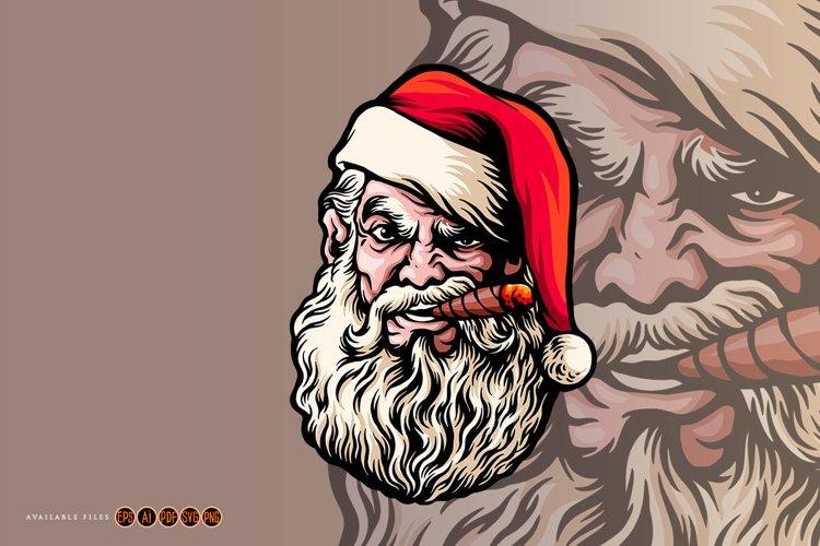 Santa Claus Smoking Merry Christmas example image 1