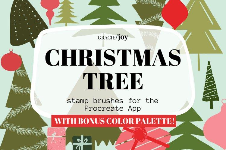 Christmas Tree Procreate Stamp Brush example image 1