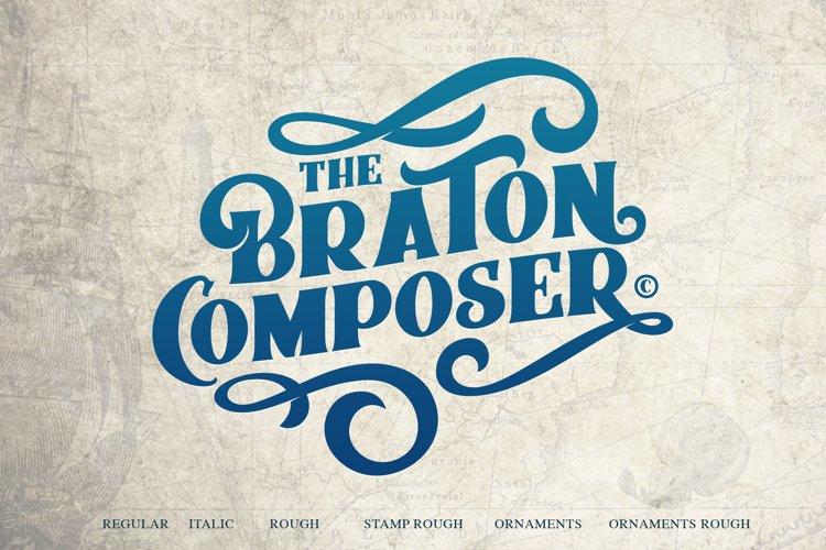 Braton Composer Typeface example image 1