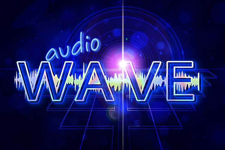 Audio Wave Font | Open Type / Woff example 1